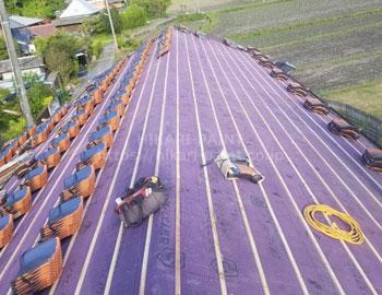 屋根葺き替え(ルーフィング張り)