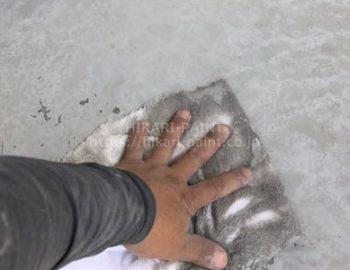 FRP防水アセトン拭き