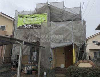 岡山市北区M様邸で屋根&外壁の塗装スタート!