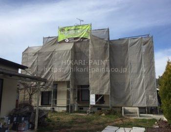 瀬戸内市T様邸 屋根外壁の塗装工事着工