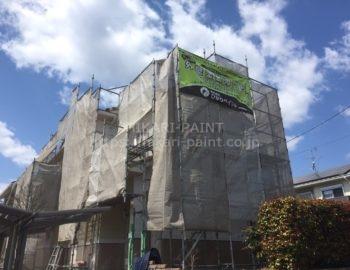 赤磐市桜が丘東 M様邸の外壁塗装工事スタートです。