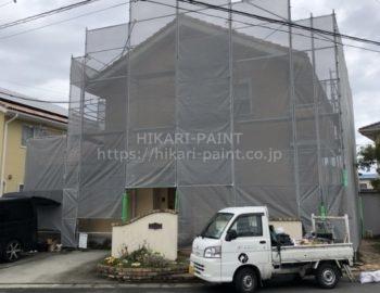 瀬戸内市K様邸で外壁塗装工事を行います!