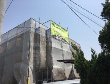 倉敷市西中新田N様において外壁の塗装工事です。