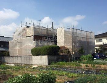 岡山市北区H様邸で、屋根と外壁の塗装工事をします(^-^)