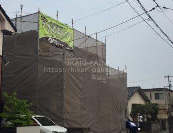 岡山市南区N様邸で屋根と外壁の塗装工事スタートです!