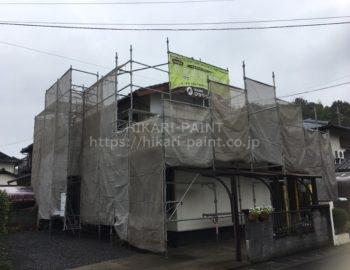 岡山市南区N様邸 屋根・外壁塗装工事始まりました!