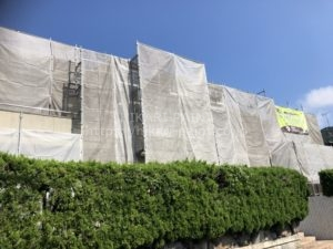 玉野市N様邸で外壁塗装工事開始です!