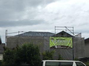 岡山市北区O様邸 屋根・外壁塗装工事スタート!