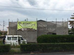 倉敷市茶屋町F様邸で外壁塗装工事スタート!