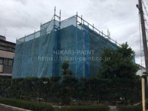 岡山市南区M様邸 外壁塗装工事始まりました!
