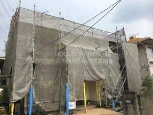 岡山市北区I様邸 屋根塗装工事始まりました!