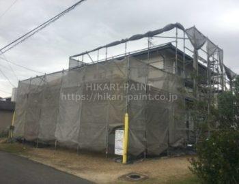 岡山市南区S様邸 外壁塗装工事開始!