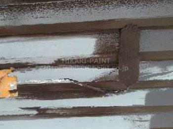 付帯部(雨戸)中塗り
