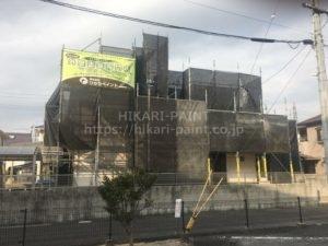岡山市東区M様邸 屋根と外壁の塗装工事着工!