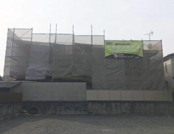 岡山市南区W様邸 屋根・外壁塗装工事が始まります!