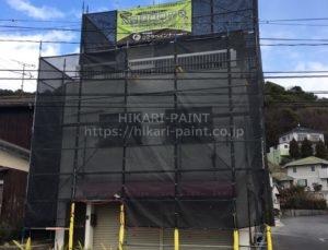 瀬戸内市K様邸 外壁塗装工事開始です!