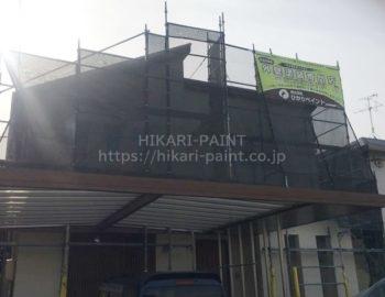 岡山市南区F様邸 外壁塗装工事スタートです!