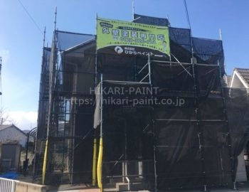 倉敷市児島U様邸 屋根・外壁塗装工事着工です!