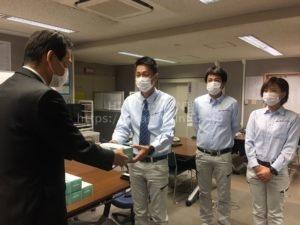 岡山市へマスクを寄贈させていただきました!