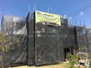 倉敷市下庄K様邸 防水・塗装工事開始!