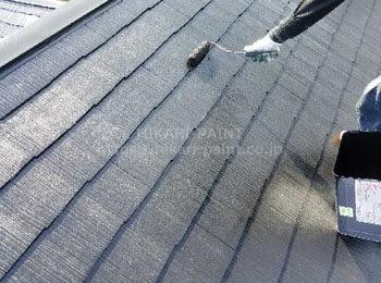 屋根中塗り・上塗り