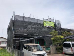 岡山市北区T様邸 塗装工事始まりました😀