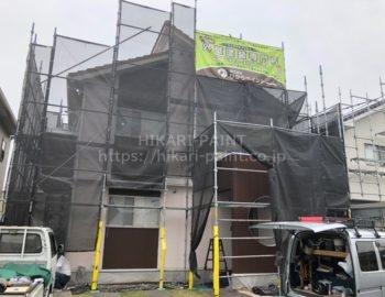 倉敷市M様邸 塗装工事始まってます😀