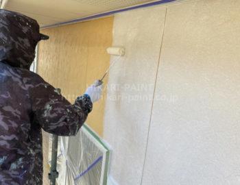 外壁(2階部分) 下塗り