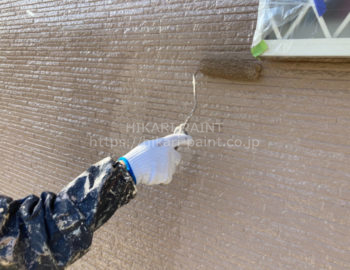 外壁(1階部分) 上塗り