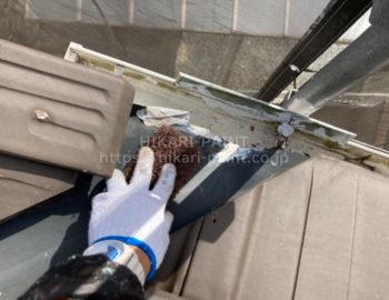 屋根板金板 下地処理