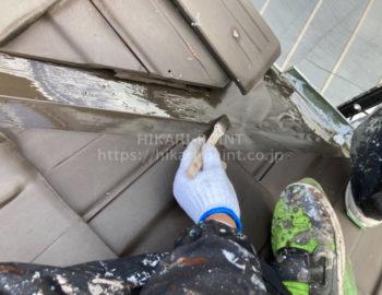 屋根板金板 上塗り