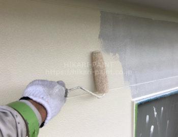 外壁中塗り(2階部分)