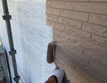 外壁中塗り(1階部分)