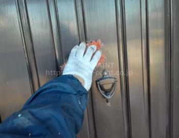 玄関ドア 下地処理