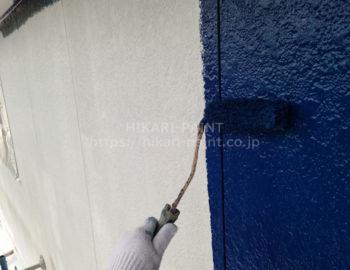 外壁(2階部分) 中塗り