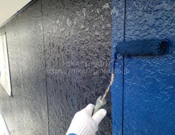 外壁(2階部分) 上塗り