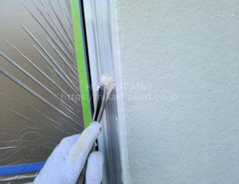 玄関ドア鉄部 下塗り