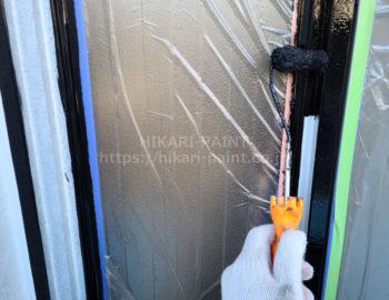 玄関ドア鉄部 中塗り