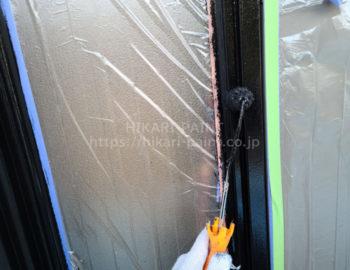 玄関ドア鉄部 上塗り
