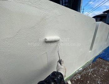 塀 上塗り