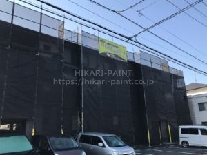 岡山市北区K様管理アパート 塗装工事始まりました😊