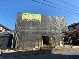 倉敷市H様邸 屋根・外壁塗装工事始まりました😃