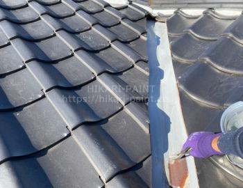 屋根板金板 下塗り