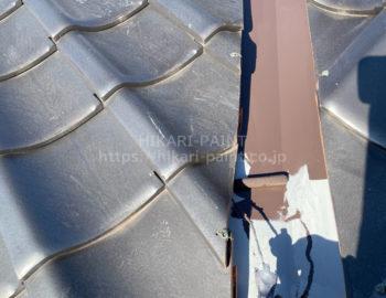 屋根板金板 中塗り