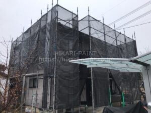 岡山市東区N様邸 塗装工事始まりました😄