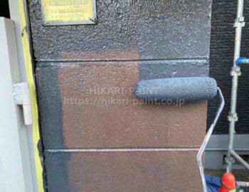 ガス庫外壁 中塗り