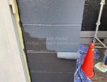 ガス庫外壁 上塗り