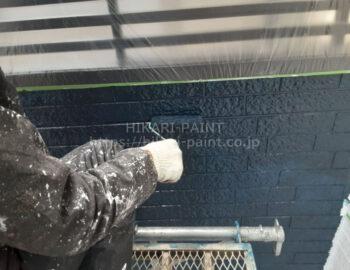 外壁玄関部 上塗り