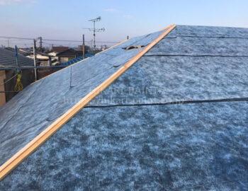 屋根 防水シート張付