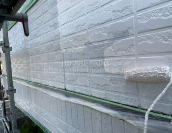 外壁 クールホワイト中塗り・上塗り